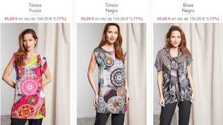 Tunicas para mujer estampadas de Chacok