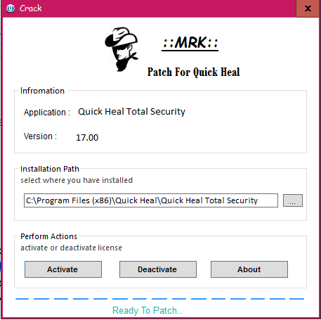 crack key for quick heal total security 2017