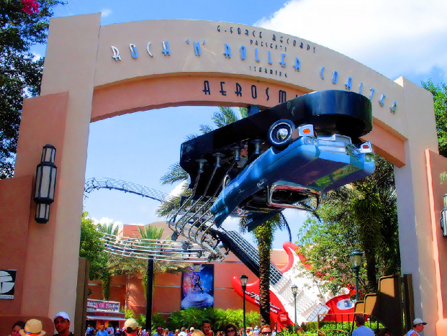 La montaña rusa de Aerosmith en Hollywood Studios