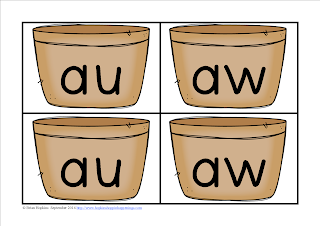 FREEBIE Apple Aw and Au Word Sort