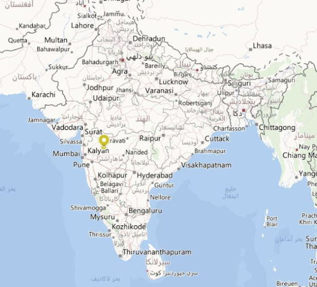 خريطة مغارات إلورا في الهند Ellora Caves Maharashtra India Map