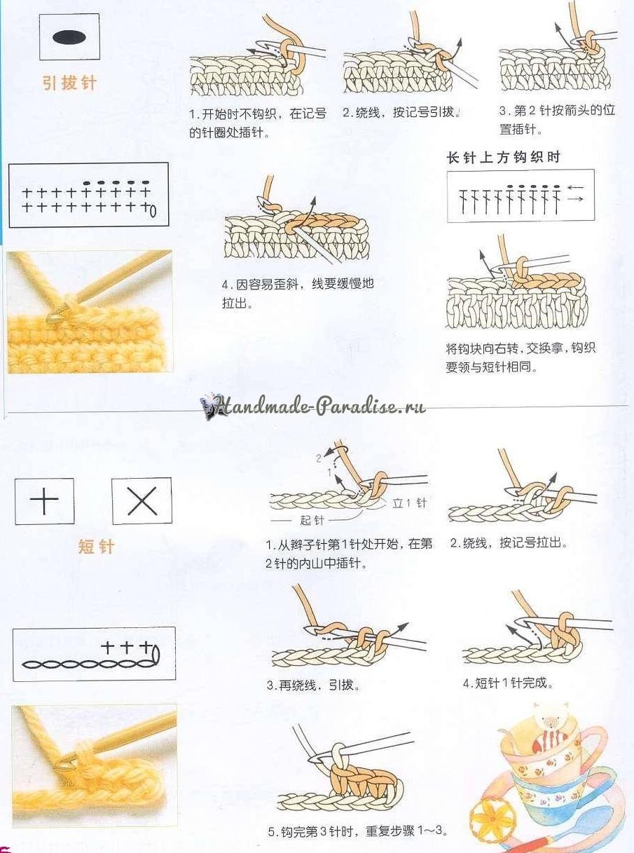 Как вязать крючком по китайским схемам (10)
