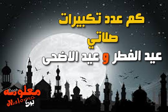 تكبيرات عيد الاضحى المبارك ، عدد تكبيرات صلاة عيد الفطر المبارك
