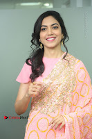 Actress Ritu Varma Pos in Beautiful Pink Anarkali Dress at at Keshava Movie Interview .COM 0033.JPG