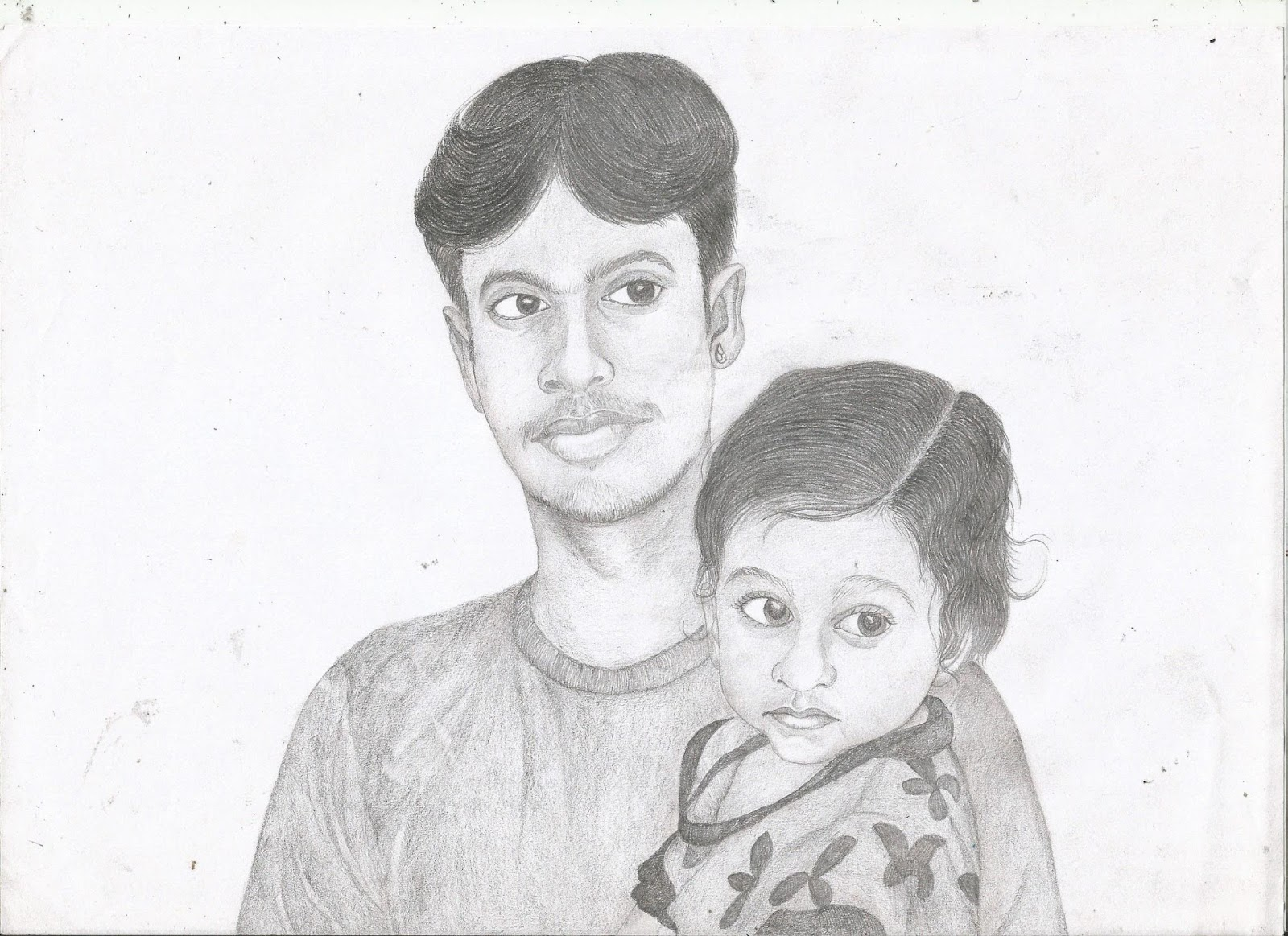 Jackhi pencil drawing indian boy pencil sketch