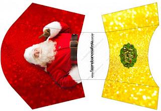 Esta es para patatas o papas fritas de Santa Claus en Rojo y Dorado.