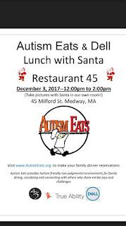 Meet Santa at this very special Autism Eats-Dell True Ability holiday lunch event - Dec 3