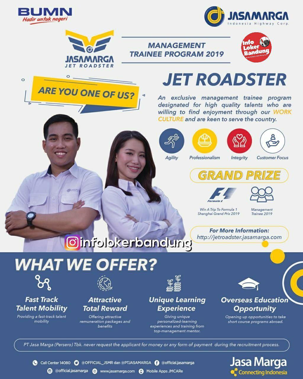 Lowongan Kerja Jet Roadster Jasa Marga Maret 2019