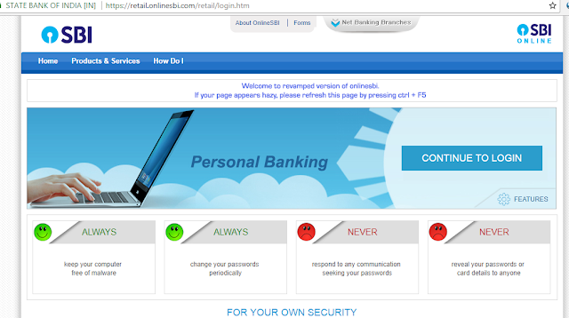 SBI Internet Banking - How to register and activate online net banking in SBI