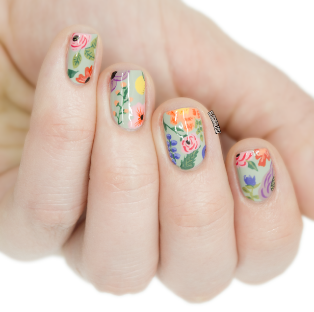 Anna Bond Florals by Nailed It @ www.blognailedit.com