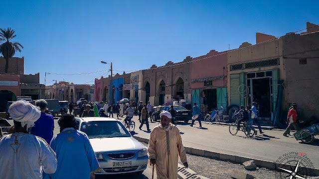 exterior de la zona del mercado de Rissani