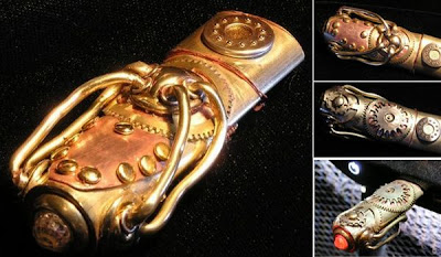 Memoria flash o usb estilo steampunk.