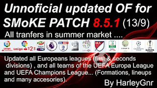 Option File PES 2016 untuk SMoKE Patch 8.5.1 update 13-09-2016