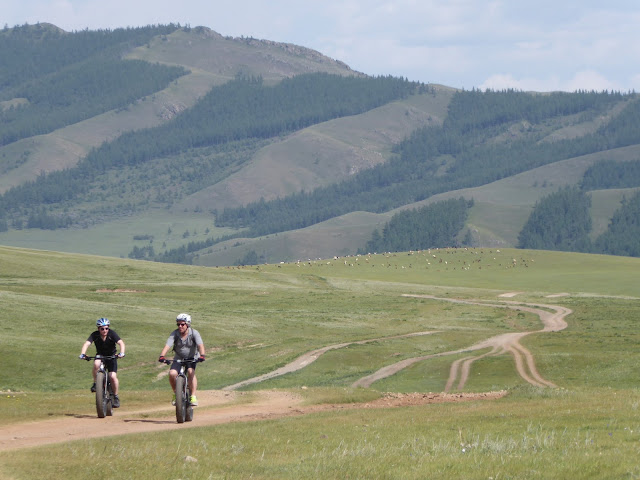 Biking in Gorkhi-Terelj National Park, Mongolia
