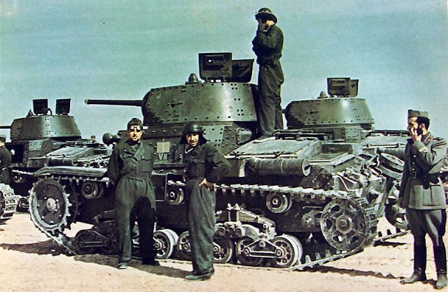 24 March 1941 worldwartwo.filminspector.com Italian Fiat M13/40 tanks Afrika Korps