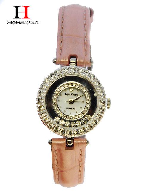 Đồng hồ nữ Royal Crown dây da giá rẻ dưới 1 triệu