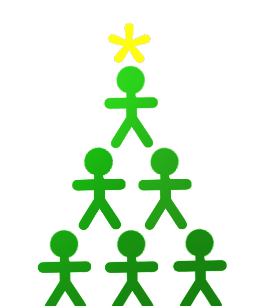 Stick Person Christmas Tree - Final Version