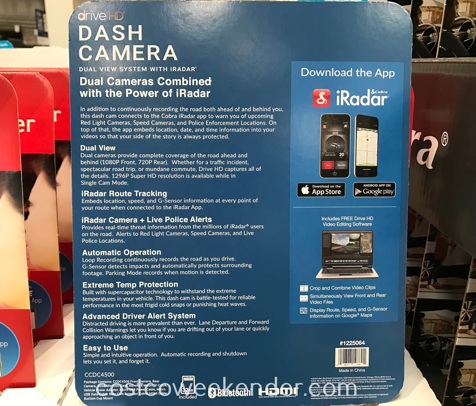 Costco 1225064 - Cobra Drive HD Dash Camera Dual View System: great for any car