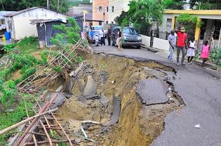 Moradores de Villa Verde denuncian hundimientos de tierra en el sector