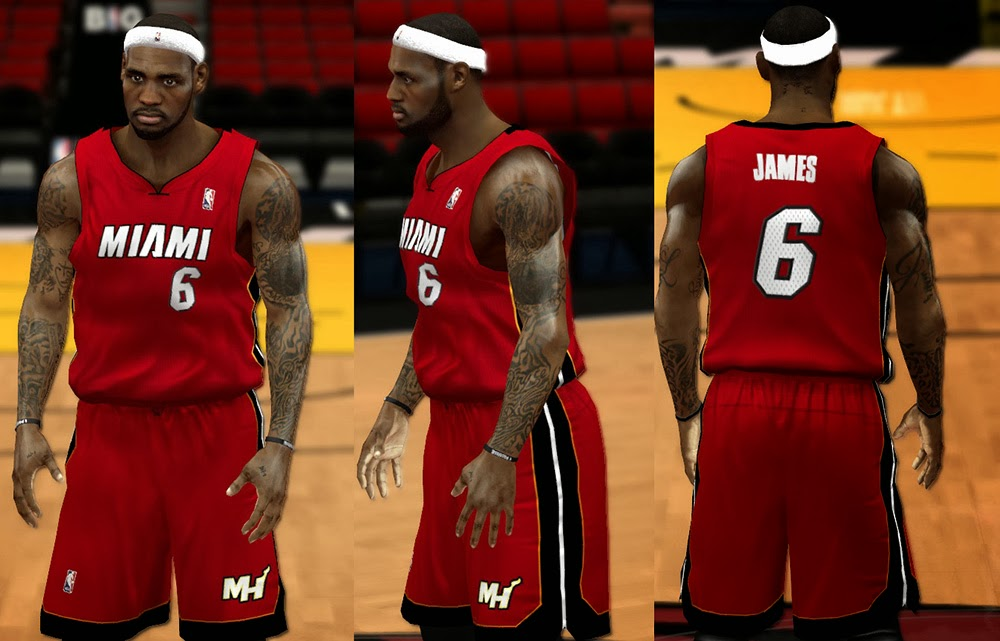 NBA 2K14 Miami Heat Jersey Mod Pack