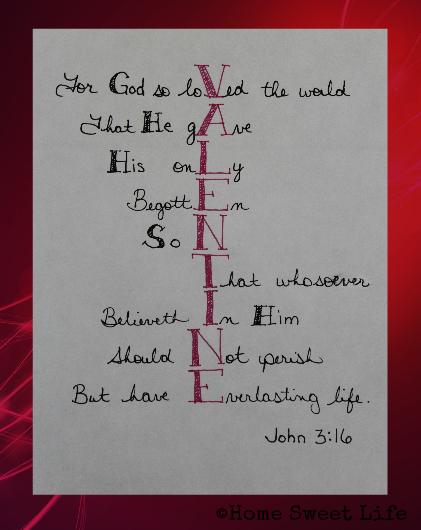 John 3:16, Valentine Acrostic