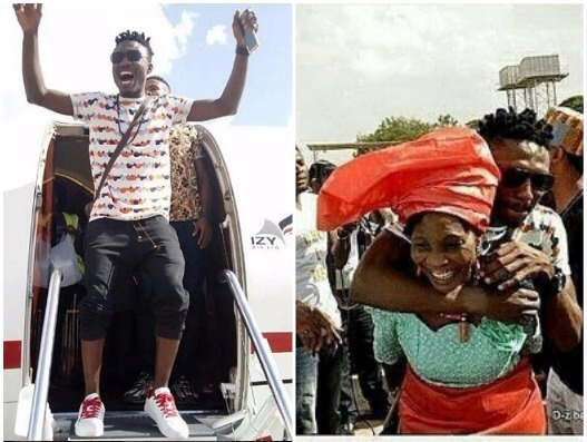 Photos Of Efe and his Mum In The Air Port