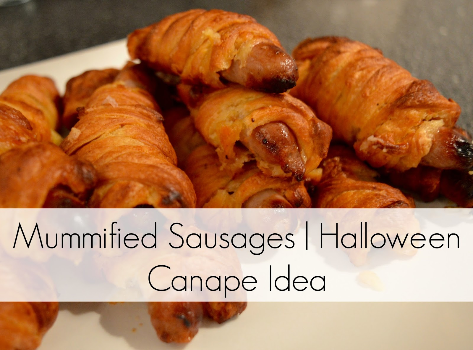 Halloween Canape Idea - Mummified Sausages recipe