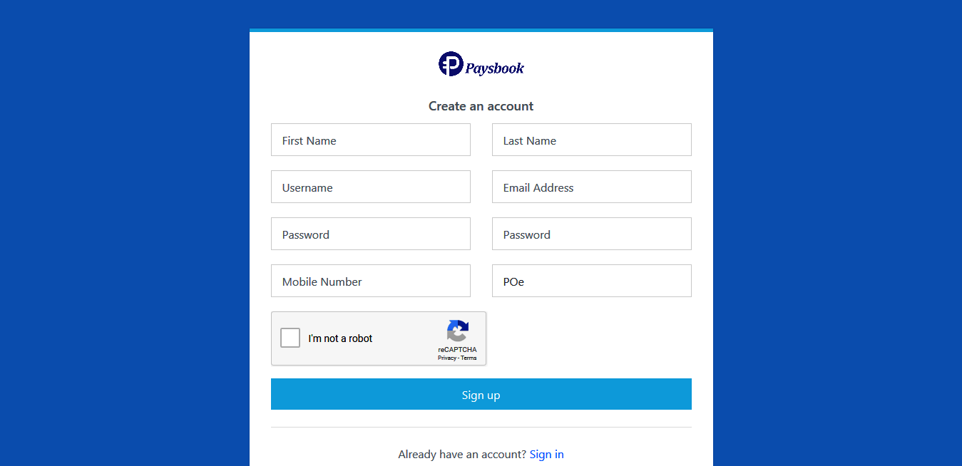 activation code in paysbook