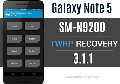 TWRP Recovery for Galaxy Note 5 SM-N9200 China