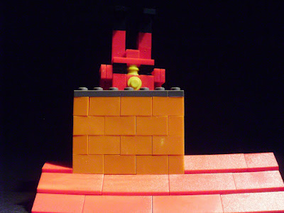 MOC LEGO Pai Natal desce pela chaminé