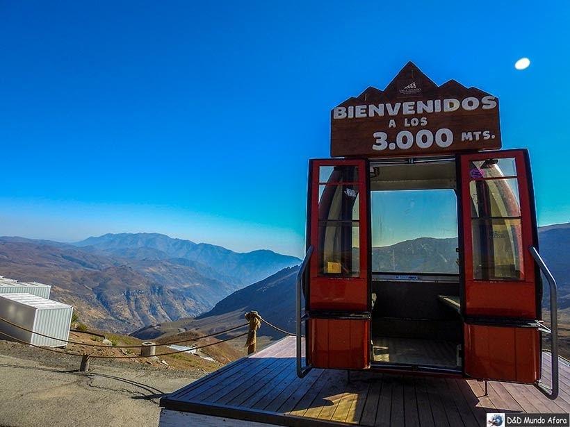 Valle Nevado a 3000 mil metros de altitude