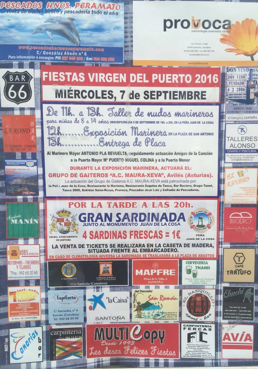 Fiestas de la Virgen del Puerto 2016, Santoña
