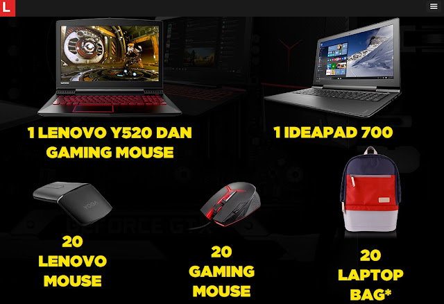 Lenovo bagi-bagi Pc dan Laptop Gaming Gratis!