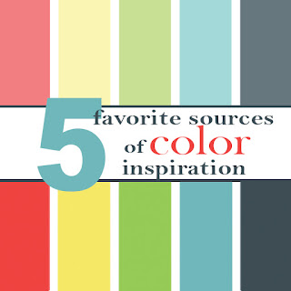 Favorite sources of color inspiration from the A Bright Corner blog