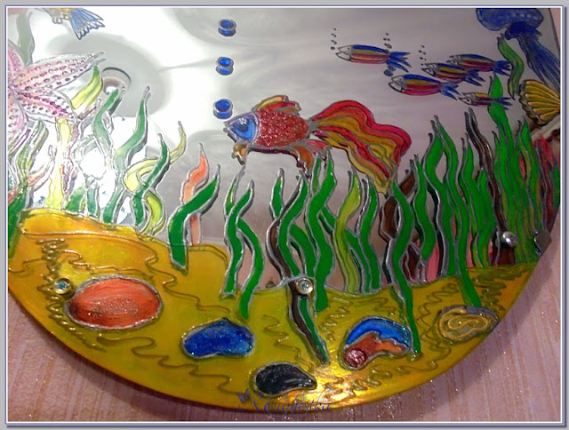 краски из 6 цветов на зеркале