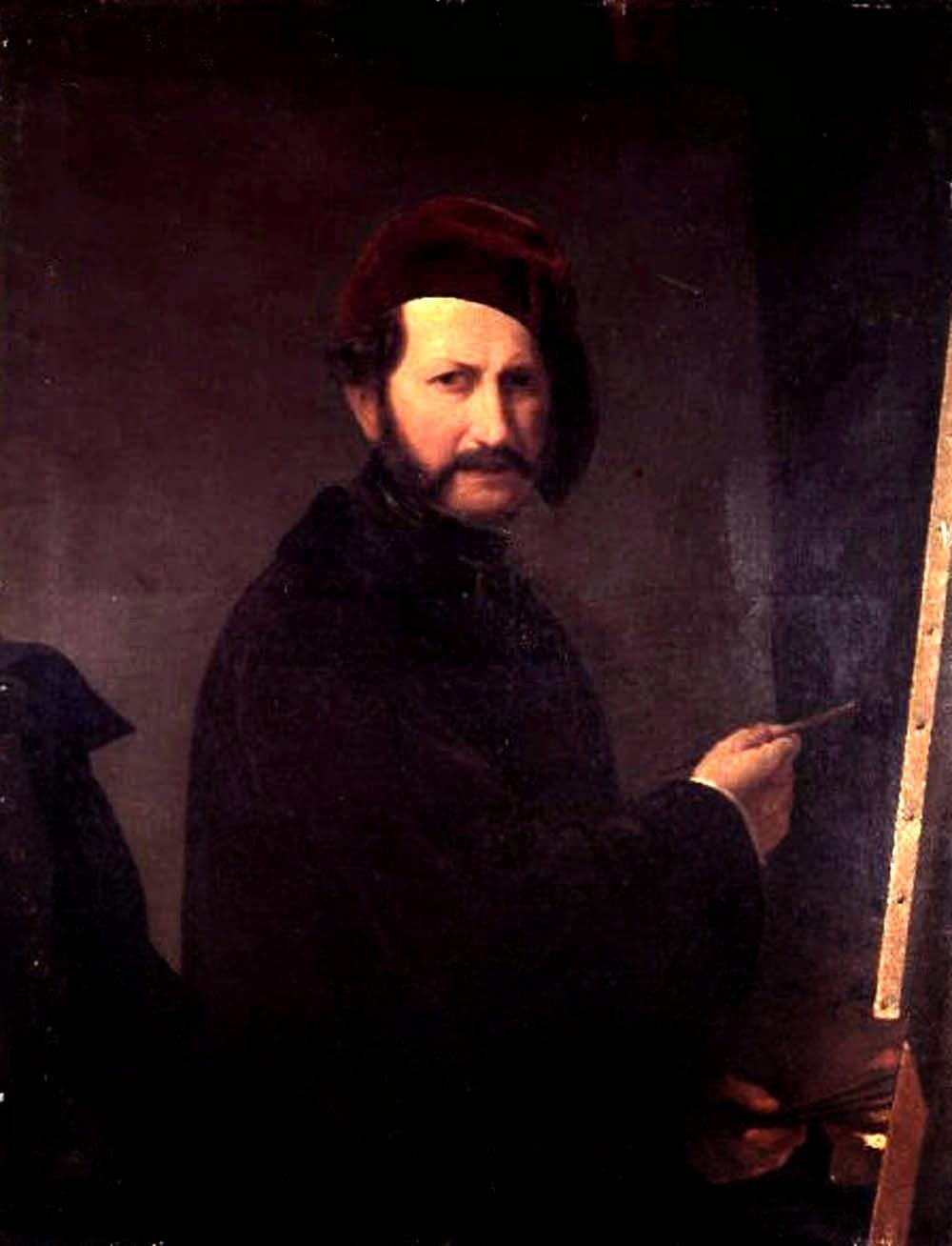 Giuseppe Sogni, Self Portrait, Portraits of Painters, Fine arts, Portraits of painters blog, Paintings of Giuseppe Sogni, Painter Giuseppe Sogni