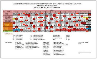 Download Kalender Pendidikan 2016/2017 Berbagai Provinsi