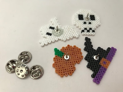 Homemade Halloween pin badges