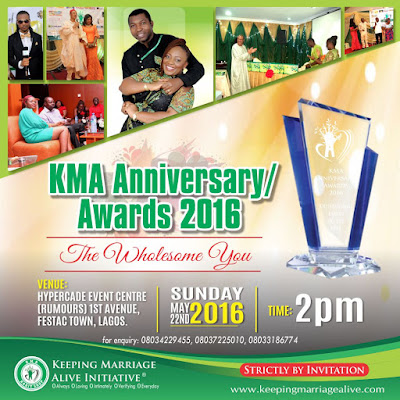 Keeping Marriage Alive Anniversary/Award Night Holds May 22