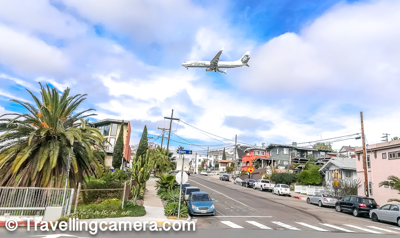 Most of the planes landing at San Diego Airport cross through this part of the town, so expect lot of noise created by these planes. Since our room was in basement, there are relatively less sound but at times the vibrations were scary.