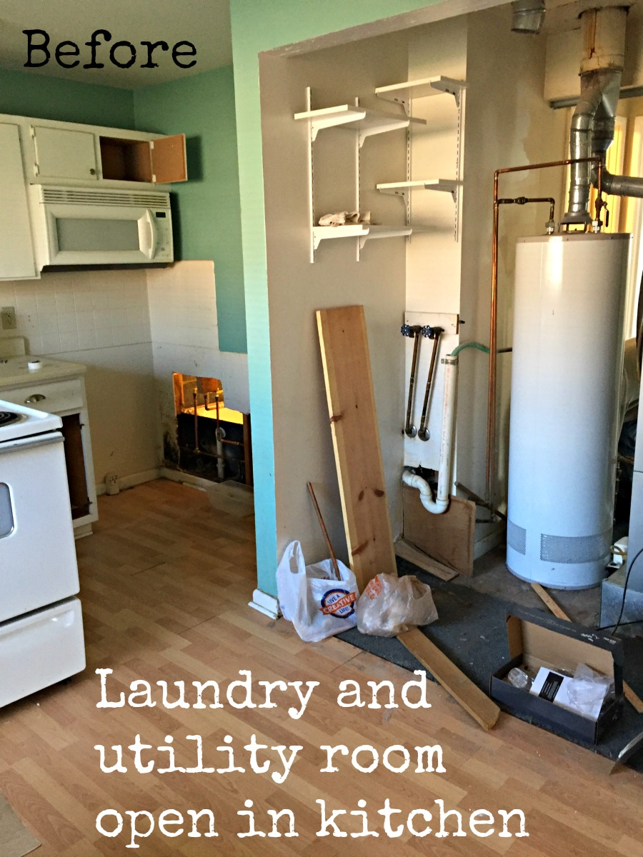 Before laundry and utility room open to kitchen