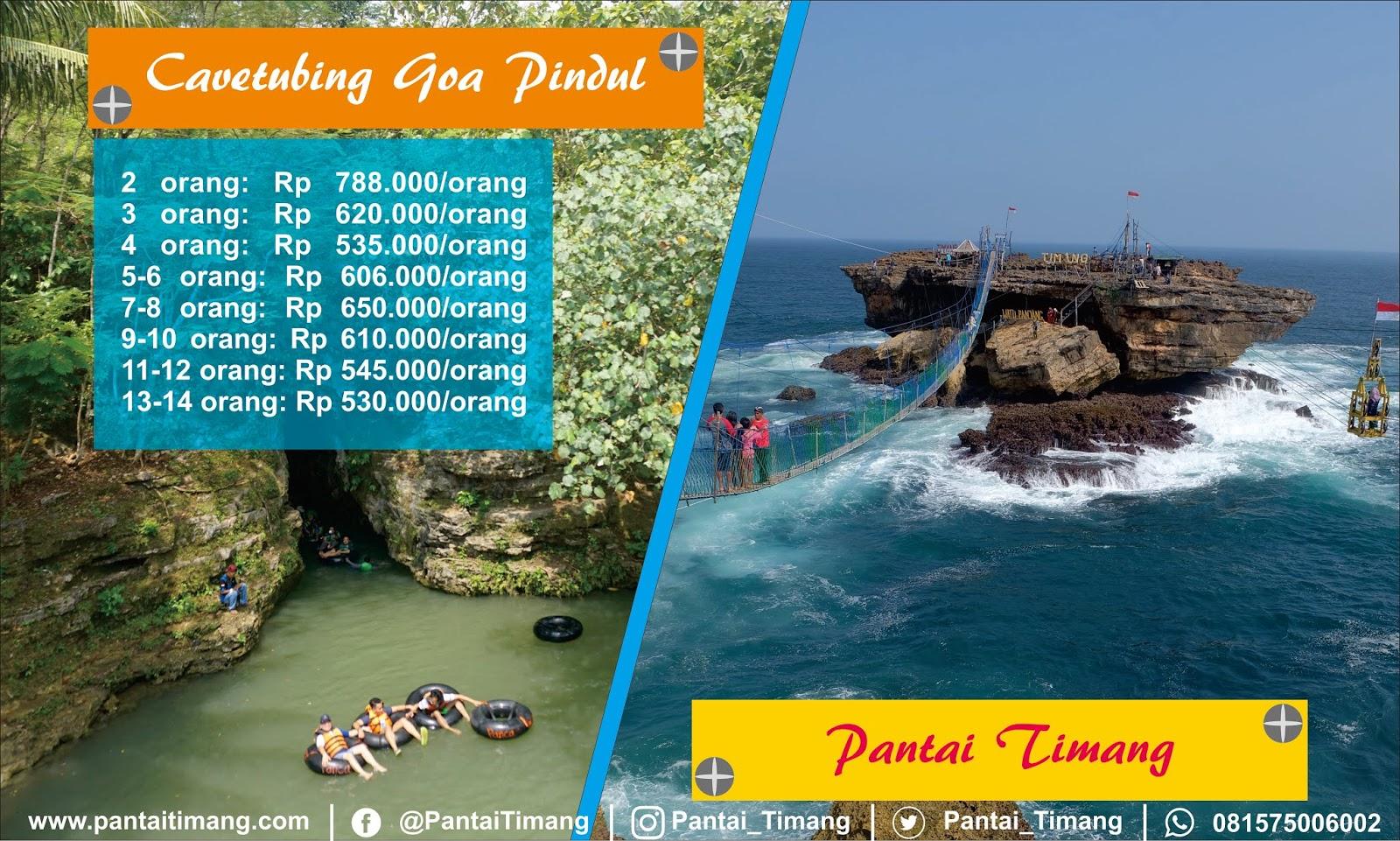 Goa Pindul dan Pantai Timang