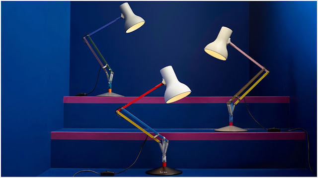 Anglepoise and Paul Smith Type 75 desk lamps