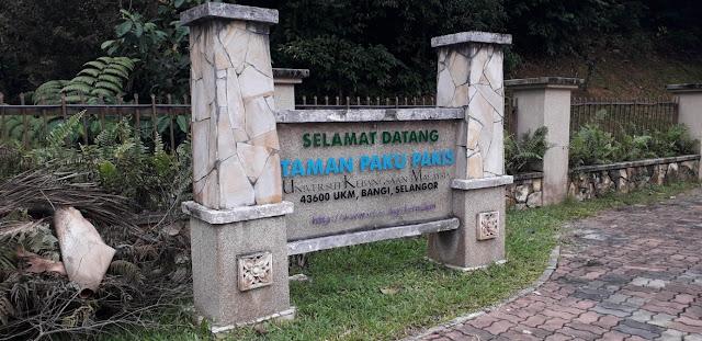 Taman Paku Pakis @ Universiti Kebangsaan Malaysia