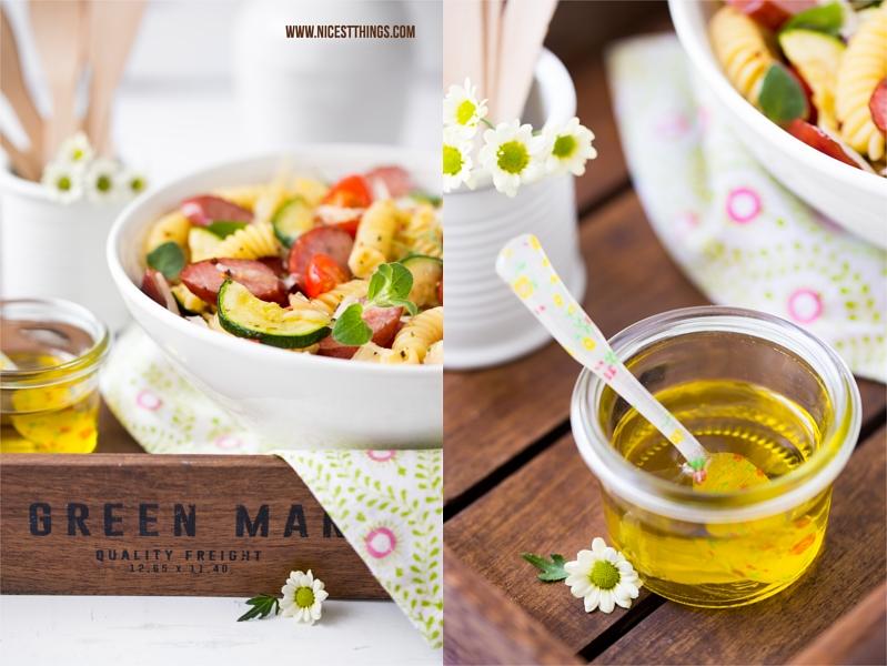 Italienischer Nudelsalat mit Sommergemüse und Kabanossi
