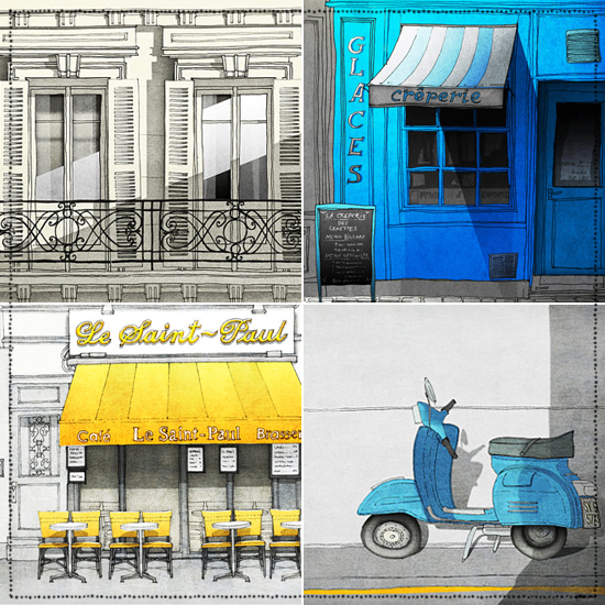 Tubidu Graphics on #etsy. Fine art #illustration prints and posters from #Paris