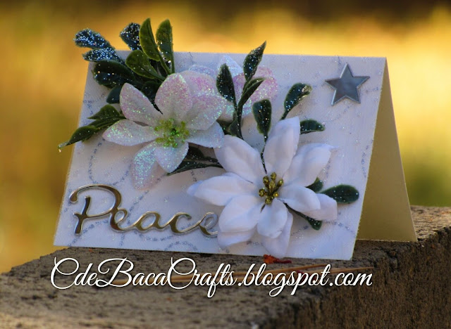 Handmade Christmas Card by CdeBaca Crafts Blogspot.