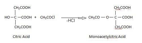 citric acid Acetylation.