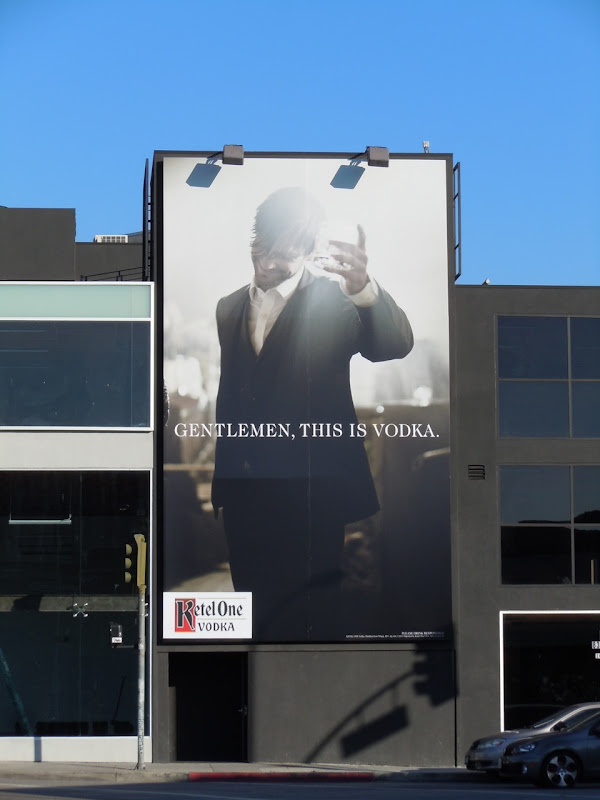 Ketel One Vodka Gentlemen toast billboard