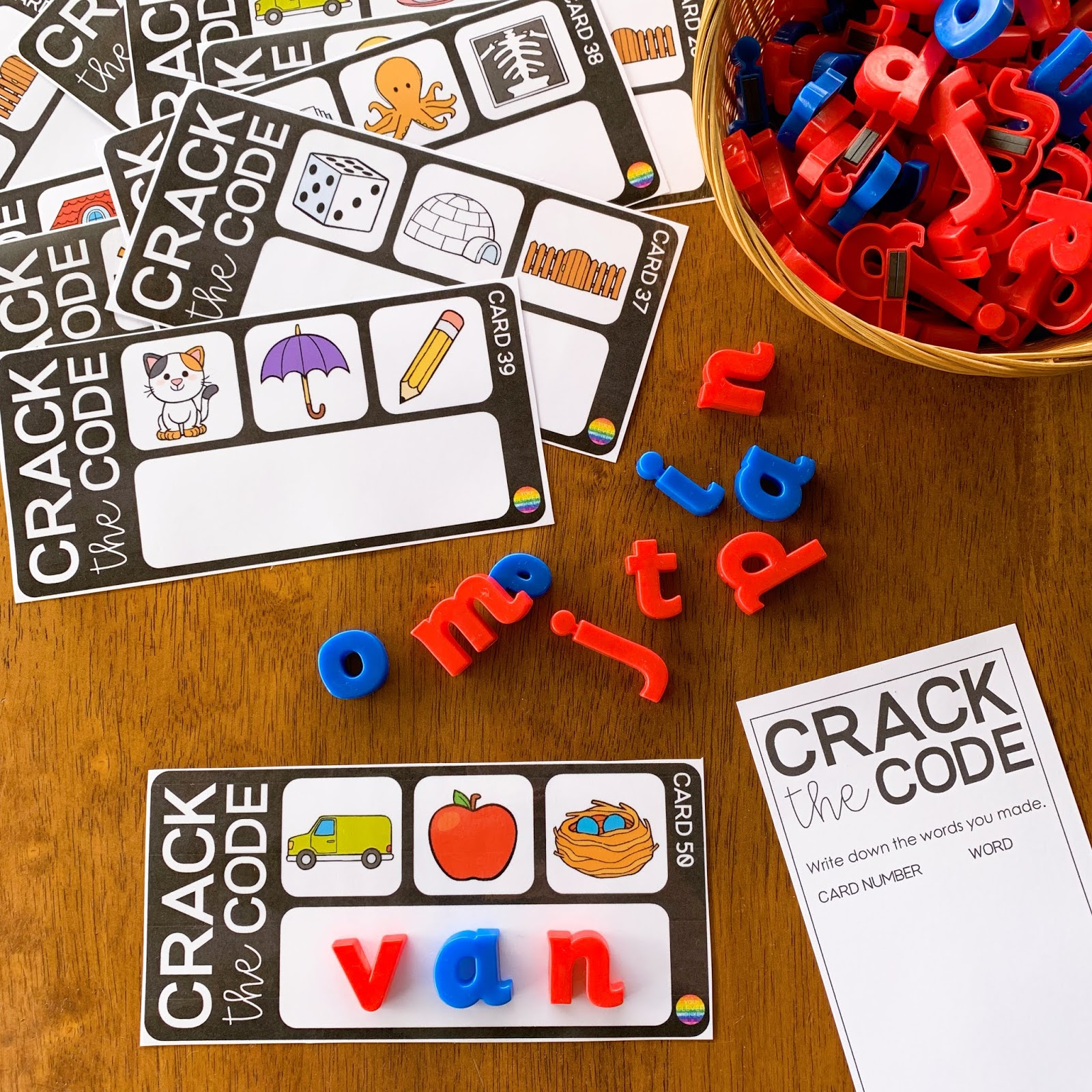 CVC Word Crack The Code Cards | you clever monkey